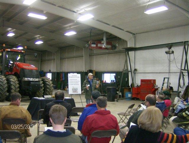 Chris Lawrence Va NRCS Cropland Agronomist talking about soil health