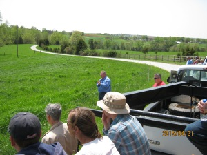 Dr. Teutsch narrates the cattle move