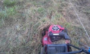 residue mower